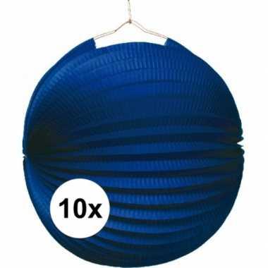 10 keer lampionnen blauw 0