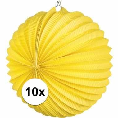 10 keer lampionnen geel 0