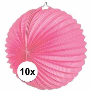 10 keer lampionnen roze 0