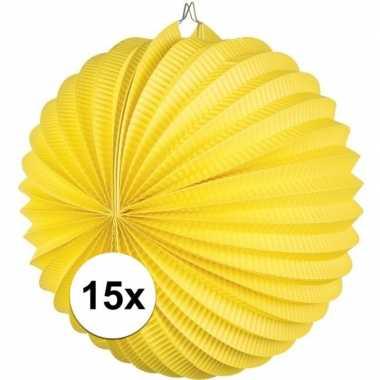 15 keer lampionnen geel 0