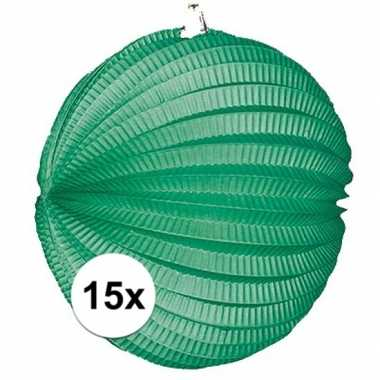 15 keer lampionnen groen 0