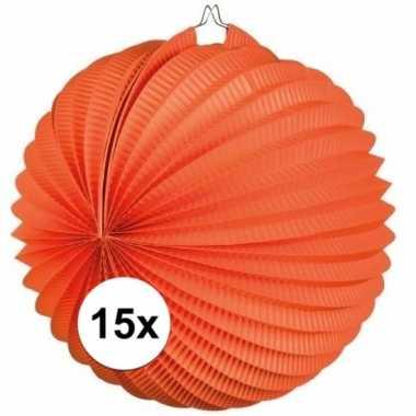 15 keer lampionnen oranje 0