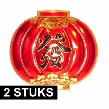 2 keer chinese wanddecoratie borden 54 bij 60 cm