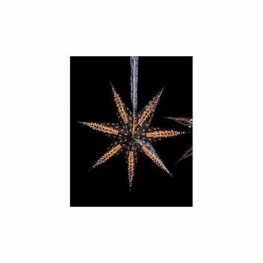 2 keer kerstversiering zwarte kerststerren 60 cm