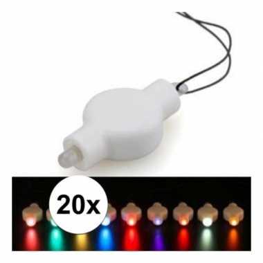 20 keer lampion led lichtje alle kleuren