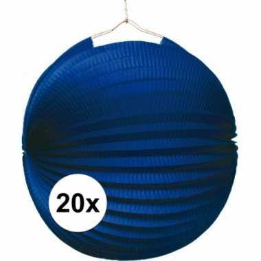20 keer lampionnen blauw 0