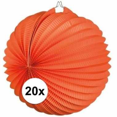 20 keer lampionnen oranje 0