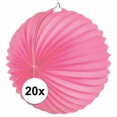 20 keer lampionnen roze 0