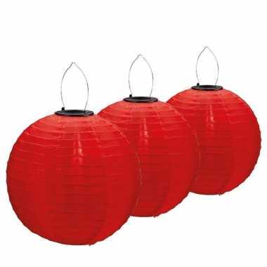 3 keer keer rode solar feest lampionnen 30 cm