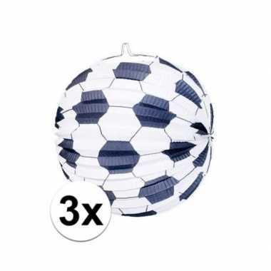 3 keer keer voetbal thema versiering lampionnen 0 24 meter