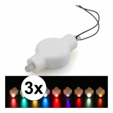3 keer lampion led lichtje alle kleuren