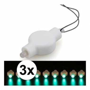 3 keer lampion led lichtje groen