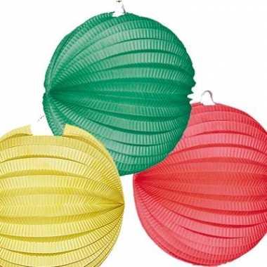 3 keer Lampionnen groen rood geel