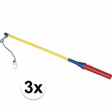 3 lampionhouders licht