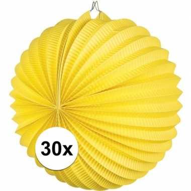 30 keer lampionnen geel 0
