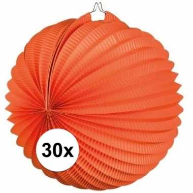 30 keer lampionnen oranje 0