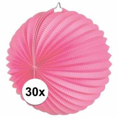 30 keer lampionnen roze 0