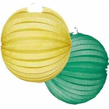 4 keer Lampionnen groen geel