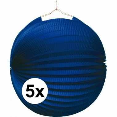 5 keer lampionnen blauw 0