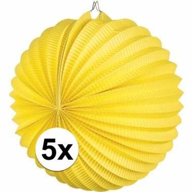 5 keer lampionnen geel 0