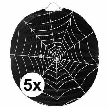 5 keer spinnenweb lampionnnen 0
