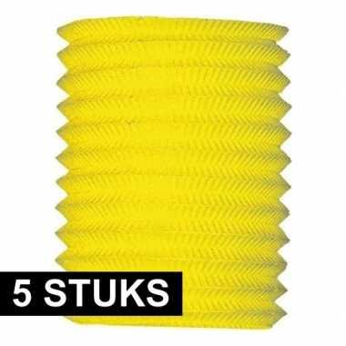 5 keer treklampionnen geel 16 cm