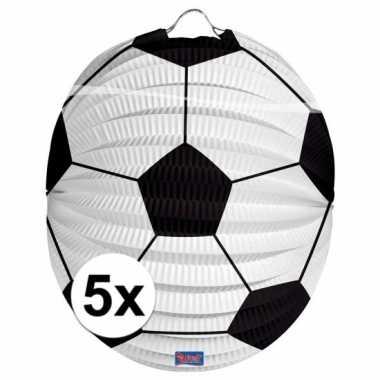 5 keer voetbal lampionnen 0 2 meter
