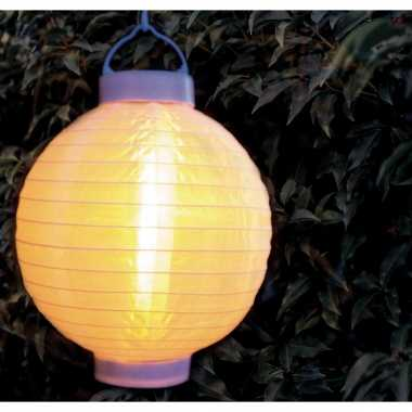 9 keer keer luxe solar lampion/lampionnen wit realistisch vlameffect