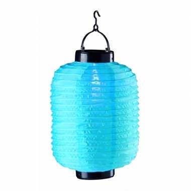 Blauwe solar lampion 55 cm