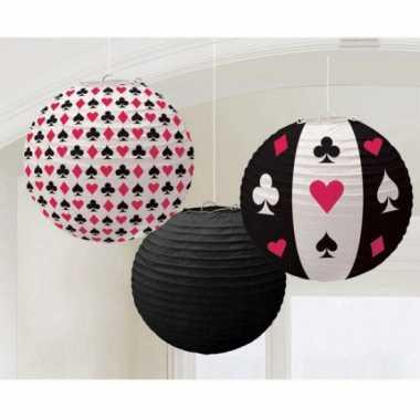 Casino decoratie lampionnen 3 keer