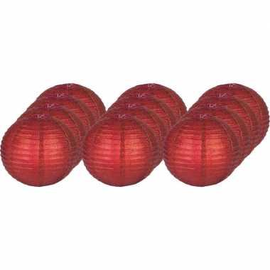 Dozijn rode lampionnen glitters