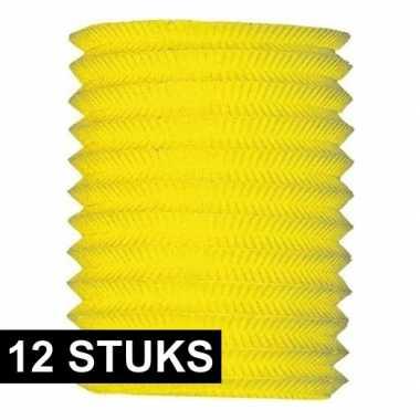 Dozijn treklampionnen geel 16 cm