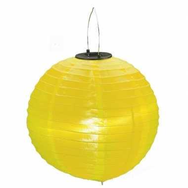Gele solar feest lampionnen 30 cm