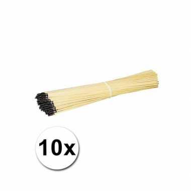 Houten lampionhouders 40 cm 10 keer