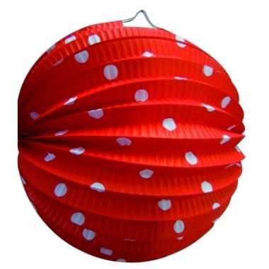 Lampion rood witte stippen 0 23 meter