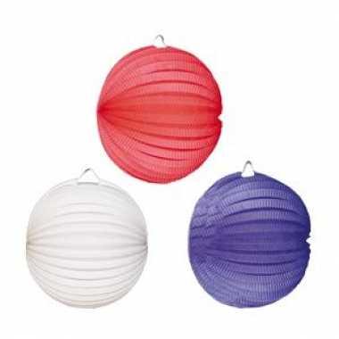 Lampionnen rood wit blauw