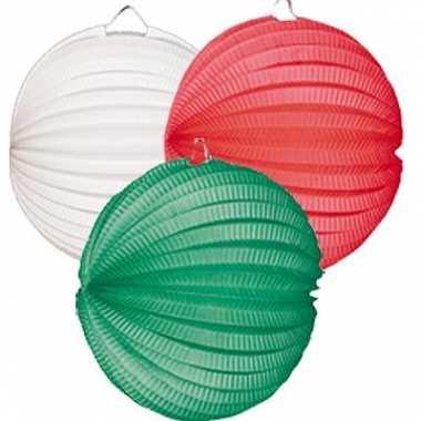 Lampionnen rood wit groen