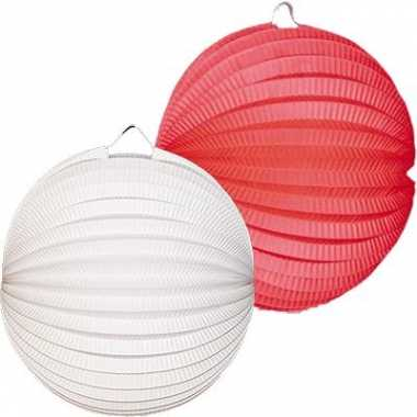 Lampionnen wit rood 4 keer