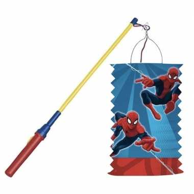 Marvel spiderman treklampion 28 cm lampionstokje