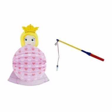 Prinses lampion 0 2 meter lampionstokje