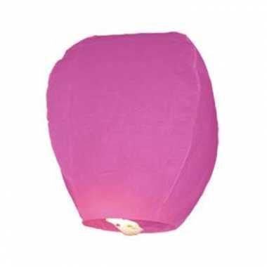 Roze wensballon