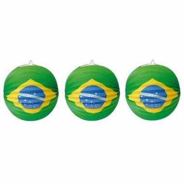 Set 8 keer keer lampionnen brazilie versiering 0