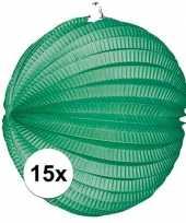 15 keer lampionnen groen 0 2 meter