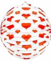 2 keer keer bol lampionnen rond rode hartjes 36 cm
