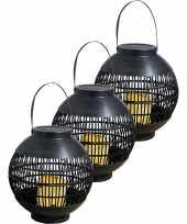 3 keer buiten tuin zwarte rotan lampionnen hanglantaarns 0 2 meter solar tuinverlichting