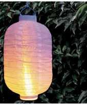 3 keer keer luxe solar lampion lampionnen wit realistisch vlameffect 20 bij 30 cm