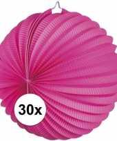 30 keer lampionnen fuchsia roze 0 2 meter