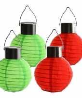 4 keer keer gekleurde buiten tuin feest solar lampionnen 10 cm 10272781
