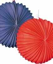 4 keer lampionnen blauw rood