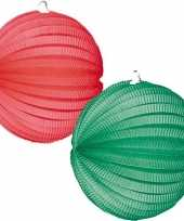 4 keer lampionnen groen rood